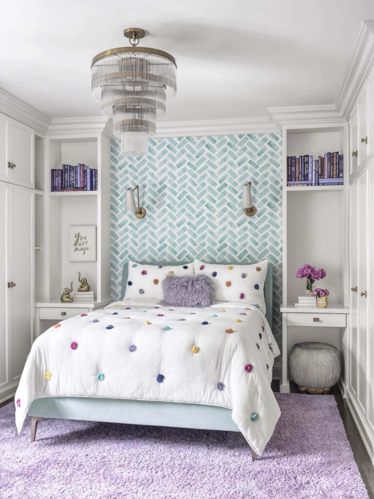 Girls Bedroom of English Manor